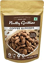 Nutty Gritties Coffee Almonds - Roasted Almonds with Ground Coffee (Pack of 1)