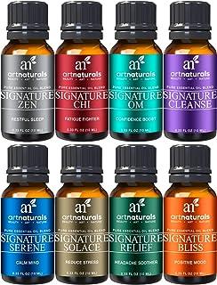 ArtNaturals Signature Blend Essential Oils Set for Diffuser (8 x 10ml) 100% Pure Natural Oil -Therapeutic Grade - Aromathe...