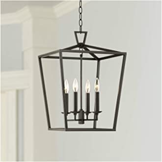 Daynes Bronze Open Frame Foyer Pendant Chandelier 19 3//4 Wide Farmhouse 5-Light Fixture for Dining Room House Foyer Kitchen Island Entryway Bedroom Living Room Franklin Iron Works