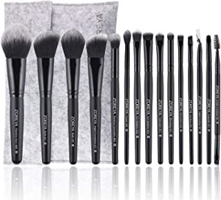15Pcs Makeup Brushes Set Professional Synthetic Bristles Foundation Powder Blush Cosmetic Brushes With Case Zoreya