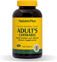 NaturesPlus Adult's Chewable Multivitamin - 180 Vegetarian Tablets - Pineapple Flavor - Natural Whole Foods Supplement for...