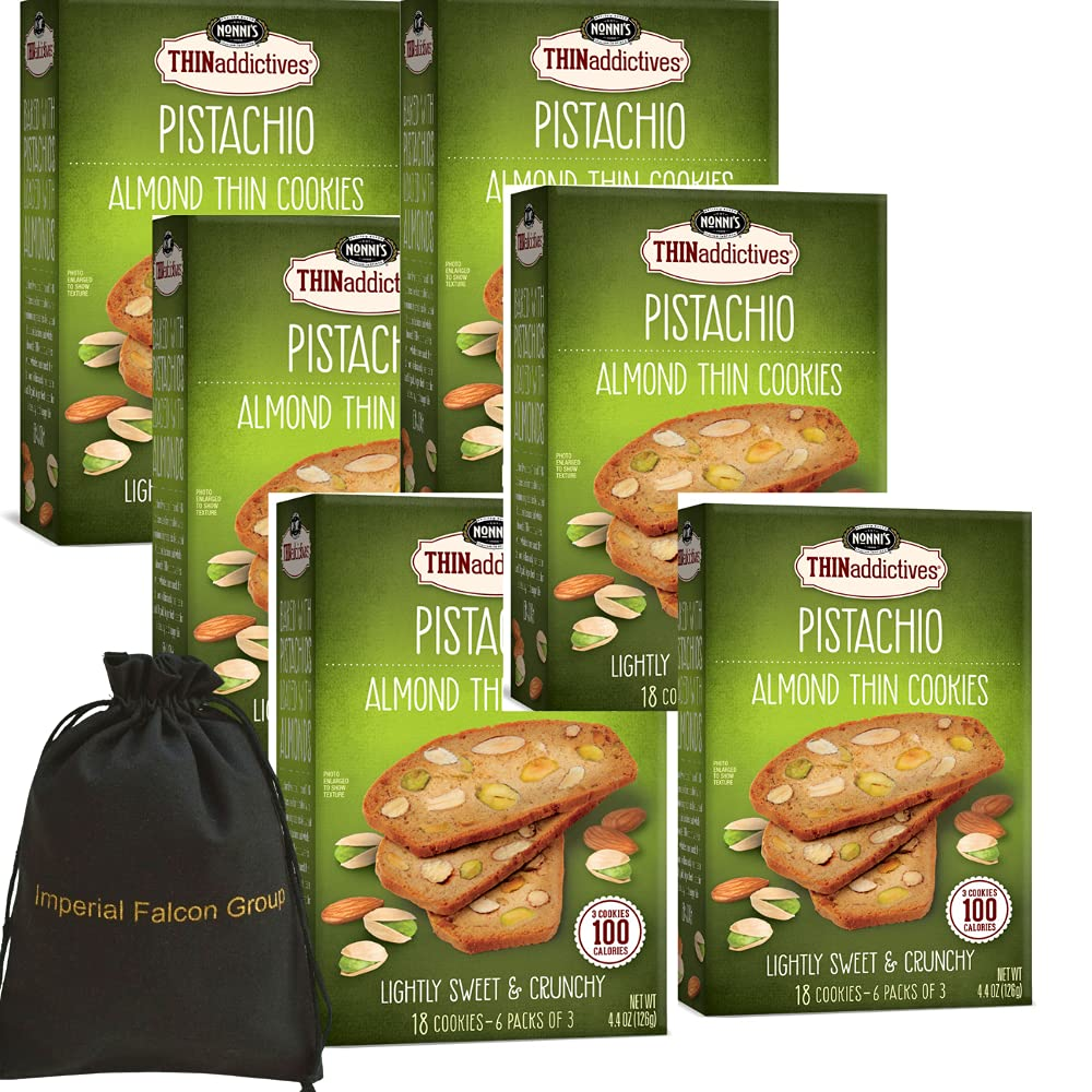 Nonni's Surprise price THINaddictives Thin Cookies Nippon regular agency 6 Pistachio Count Almond