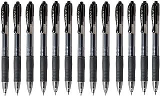 Pilot G2 07 Black Fine Retractable Gel Ink Pen Rollerball 0.7mm Nib Tip 0.39mm Line Width Refillable BL-G2-7 (Pack of 13)
