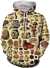 mushroom print hoodie