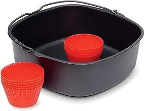 Philips Airfryer bakset - Geschikt voor de Airfryer XXL - 9 Siliconen muffinvormen - Receptenboekje - Vaatwasmachinebesten...