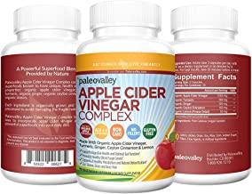 Paleovalley: Apple Cider Vinegar Complex - Digestive Support - 90 Capsules - Organic Ingredients - Help Stabilize Blood Sugar - Promote Weight Loss - Improve Protein Absorption