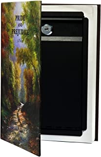 BARSKA Hidden Real Book Lock Box with Key Lock