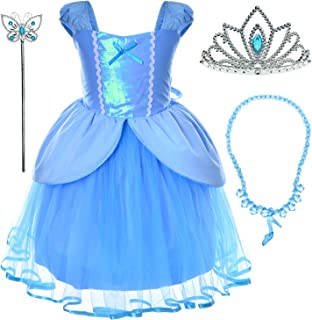 Princess Dress Up Costume For Toddler Girls Birthday Party 2T-6T