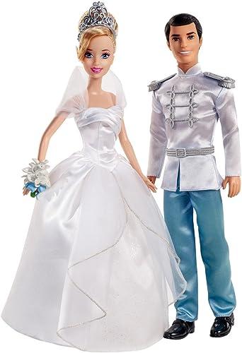 Mattel X2846 - Disney Princess Hochzeitspaar Cinderella und Prinz, Puppen
