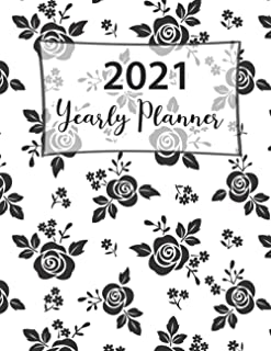 2021 Yearly Planner: One Year Planner One Year Monthly Calendar Planner Day for To Do's and Appointments and Productivity ...