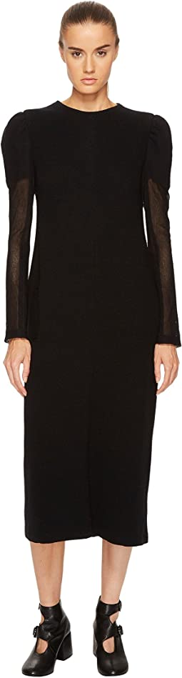 U-Gather Sleeve D Long Sleeve Dress