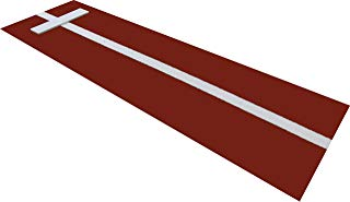 All Turf Mats PB36120Clay 3' x 10' Clay Softball Pitchers Pitching Mound Mat with Power Line