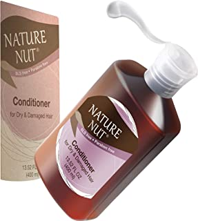 Hair Conditioner for Dry Damaged Hair - Hypoallergenic Conditioning Cream 5 Nut Natural Blend Moisturizer Ultra Hair Repair Treatment