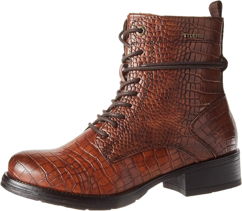 TOM TAILOR Women's 9095701 Mid Calf Boot, Mocha, 7.5 us