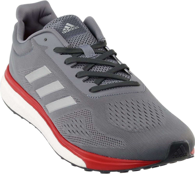 Adidas Men's Response LT Grey Silver Metallic Scarlet 10 D US