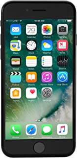 Apple iPhone 7 128GB GSM Unlocked (no CDMA) Smartphone, Black (Renewed)