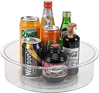 Yaosh Wsparcie dla przypraw Rotary Organizer, do obracania oleju jadalnego, butelek, puszek i szklanek, średnica 30 cm, Cl...