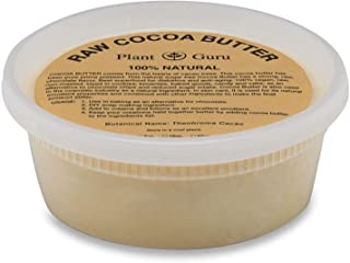 Raw Cocoa Butter 8 oz Pure 100% Unrefined FOOD GRADE Cacao Highest Quality Arriba Nacional Bean, Bulk Rich Chocolate Aroma...