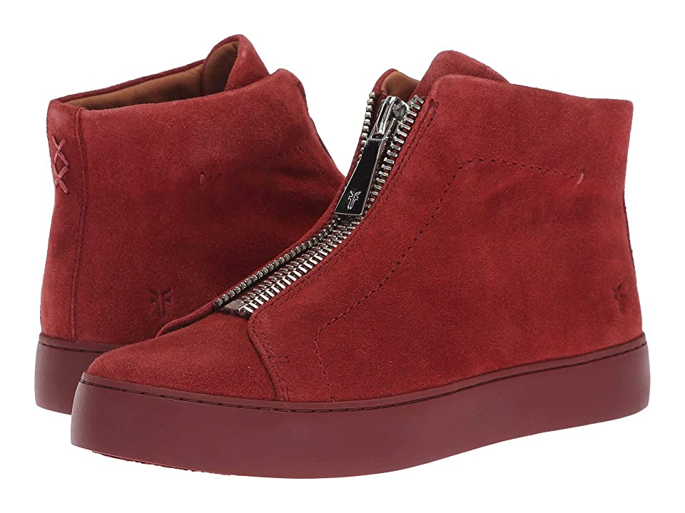 Frye Lena Zip High (Red Clay Suede) Women's Lace up casual Shoes