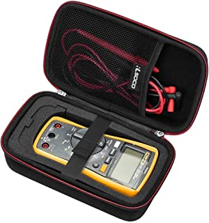 RLSOCO Carrying case Compatible for Fluke 117/115/116/114/113/177/178/179 Digital Multimeter and Fits for Fluke 101/106/107/ F15B+F17B+F18B+ and more(With DIY Foam)