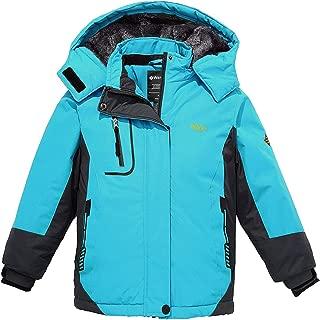 Girl's Hooded Ski Fleece Jacket Waterproof Winter Coat Raincoats Outwear
