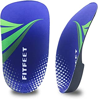 Orthotic Inserts 3/4 Length, High Arch Support Foot Insoles for Over-Pronation, Plantar Fasciitis, Flat Feet, Heel Pain Relief Shoe Inserts for Running Sports Men and Women