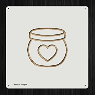 Honey Pot Honey Sweet Jar Plastic Mylar Stencil for Painting, Walls and Crafts, Item 487847