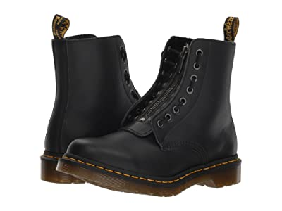 Dr. Martens 1460 Pascal Front Zip (Black Nappa) Women