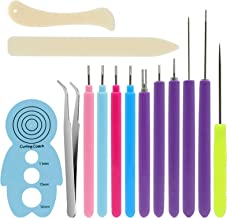 Card Making Scrapbooking KITANIS 8 Pieces Multifunctional Slotted Quilling Tool and Supplies Kit Ergonomic for Beginner Advanced Quiller DIY Bookbinding and Origami Handcraft