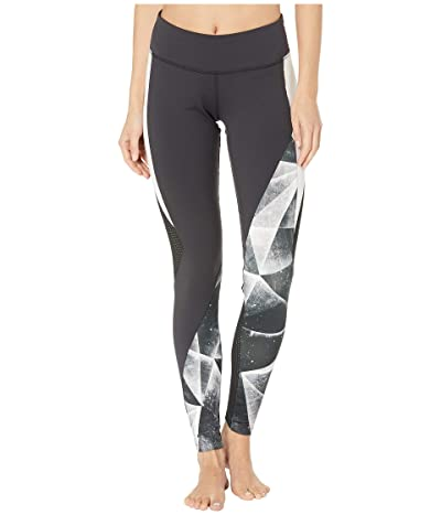 Reebok One Series Performance Lux Color Block Tights 2.0 Shattered Ice (Black) Women
