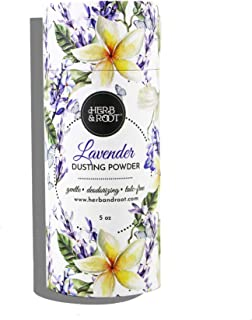 Lavender Perfumed Body Powder or Women or Men, Talc Free, Anti-chafing, Foot Powder, Bath Powder | Herb & Root, 5 oz