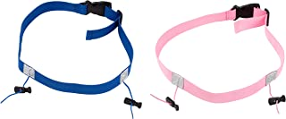 Juvale 竞赛号码腰带 - 2 件装竞赛号码座,围兜座,运动配件,适合跑步、骑自行车、马拉松、铁人三项,粉色和蓝色,80.01 x 2.29 厘米