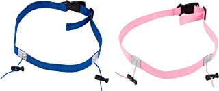 Juvale Race Number Belt - 2-Pack Race Number Holder, Bib Holders, Racing Belt for Running, Cycling, Marathon, Triathlon, Pink and Blue, 31.5 x 0.9 Inches