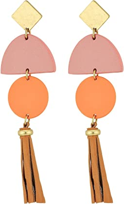 Lucky Brand Leather Tassel Earrings
