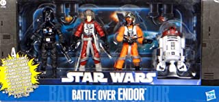 Star Wars 2011 Exclusive Action Figure 4Pack Battle Over Endor #2 Major Mianda, Palso Thern, Grizz Frix R2T7 [並行輸入品]