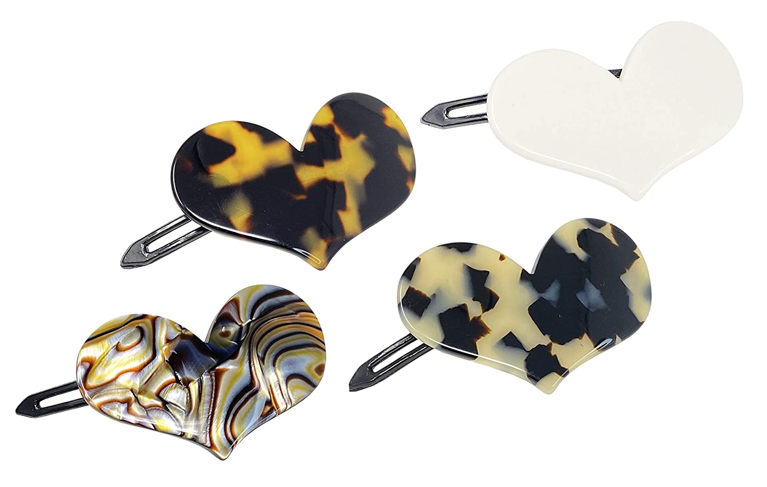 """French unisex Amie Cupid Hearts Small Set Celluloid Limited time cheap sale Handmade 2.5"""""""