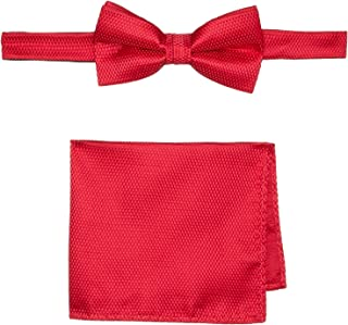 Buckle   1922 Men's Carbon Bowtie with Matching Pocket Square