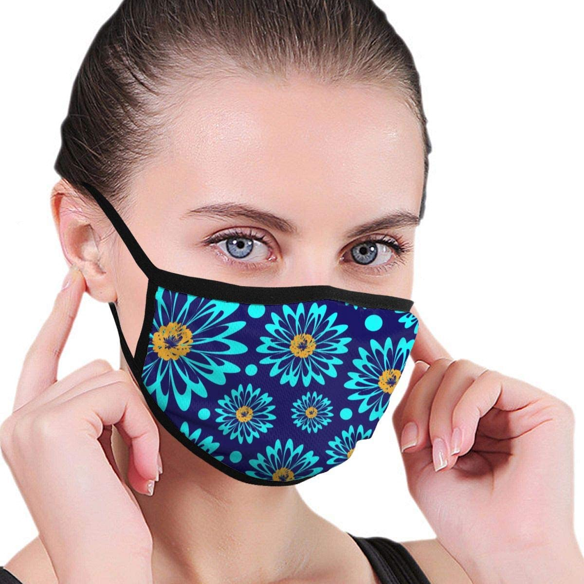 Ladion Bright Musical InstrumentsMen's Women's Print Warm Washable Reusable Ear Warmer Neck Warmer Construction Mouth Wear