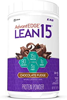 EAS AdvantEDGE Lean15 Protein Shake Powder, 15 grams of Protein, Chocolate Fudge, 1.7 lb
