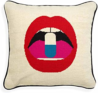 Jonathan Adler - Throw Pillow - Lips Full Dose