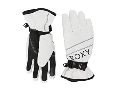 Roxy Jetty Solid Snow Gloves (Bright White) Ski Gloves