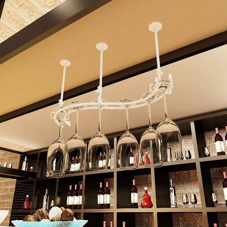 Great St. Wine Rack Metal Hanging Wine Glass Goblet Storage Wine Glass (color   3, Size   55×20CM) (color   1, Size   55×20CM)