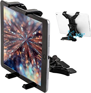 Linkstyle Universal CD Slot Tablet Car Mount, CD Player Tablet Holder for Car, Compatible with iPad Pro/Air/Mini/Samsung Galaxy Tab/Microsoft Surface Pro/iPhone 11 Pro Max (All 7-10.5 inch Tablets)