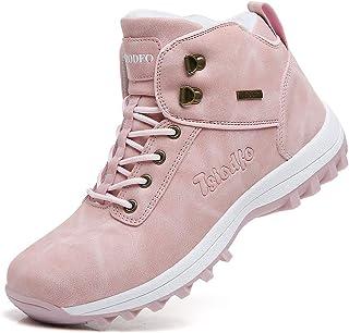 TSIODFO المرأة الشتاء الثلوج الأحذية الباردة في جميع الأحوال الجوية مع الفراء الدافئ المشي في الهواء الطلق الكاحل الأحذية