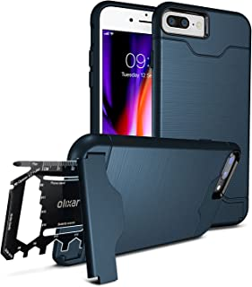 Olixar for iPhone 7/8 Plus Tough Case - with 26 in 1 Survival Multi Tool - Protective Armour Cover - Credit Card Slot & Built in Stand - X-Ranger - Marine Blue