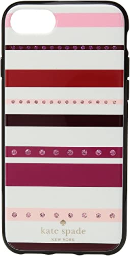 Kate Spade New York - Jeweled Stripe Phone Case for iPhone® 7