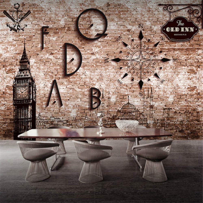 comprar marca Lvabc Papel Tapiz Tapiz Tapiz 3D Para Parojo Patrón De Papel Tapiz Retro Personalizado 3D Perspectiva Brick Cafe Restaurante Cafe Bar Ktv Mural Grande Papel Tapiz 3D-200X140Cm  barato y de alta calidad