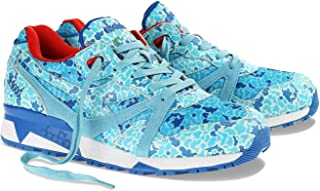 [ディアドラ] n9000Avioメンズブルーレザー&メッシュアスレチックレースUp Running Shoes