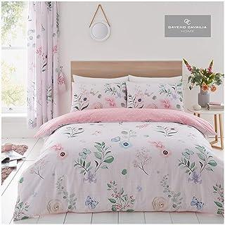 Gaveno Cavailia Duvet Cover Quilt Set with Pillow Case, Reversible, Poly Cotton, Cecilia, King Bed Size, Polycotton, Pink ...