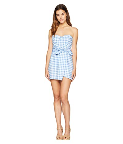 For Love and Lemons Dixie Mini Dress (Blue Gingham) Women